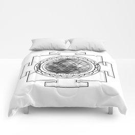 Triple Moon #buyart #buyartonline #sacred #geometry #society6 Comforters
