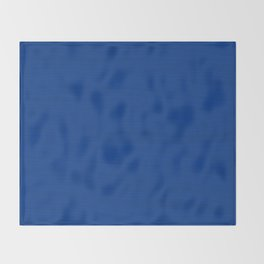 Slate Blue Brush Texture - Solid Color Throw Blanket
