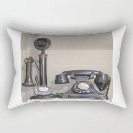 Vintage bakelite candlestick telephone Rectangular Pillow