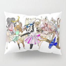 Animal Square Dance Hipster Ballerinas Pillow Sham