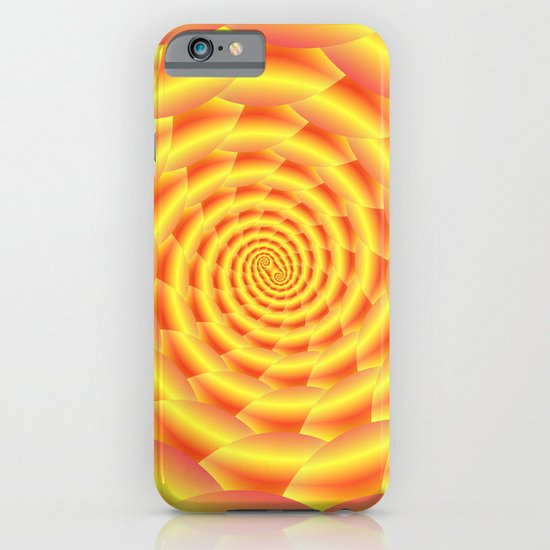 Yellow and Orange Snakeskin Spiral iPhone & iPod Case