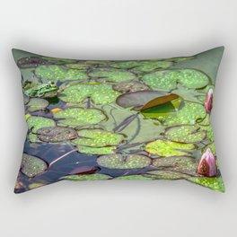 Contemplating the beauty Rectangular Pillow