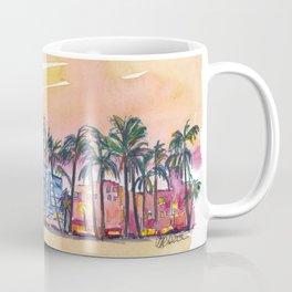 Miami Florida Ocean Drive Lights with Vanilla Sky Coffee Mug