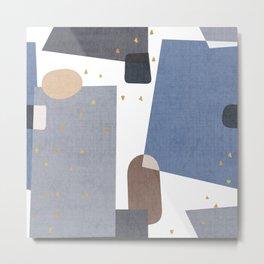 Confetti in Blue Metal Print