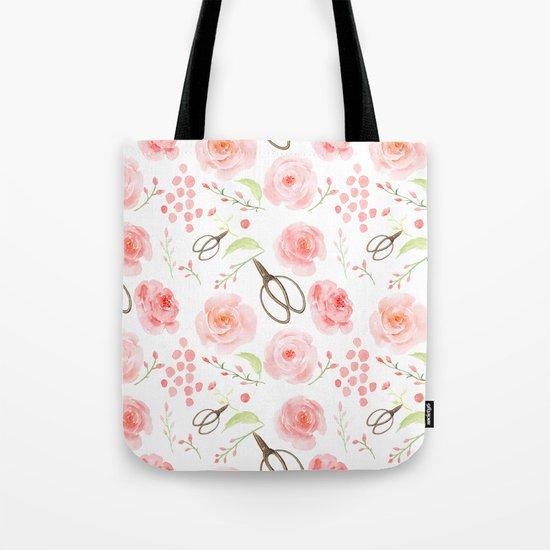 Summer Flowers Flower Floral Pink Vintage Roses #Society6 Tote Bag