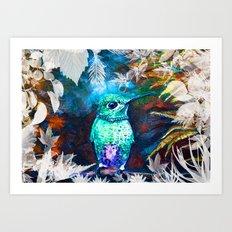 Posh Bird Art Print