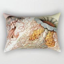 SEA CREATURES COLLAGE-Ernst Haeckel Rectangular Pillow