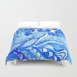 watercolor blue composition Duvet Cover