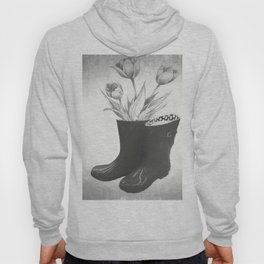 These boots are made for flowers Hoody
