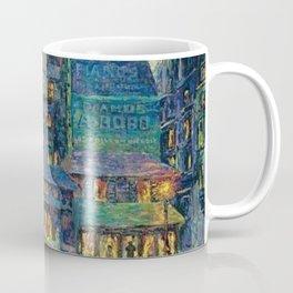 Busy Paris Street at Night by Maximilian Luce Coffee Mug