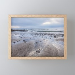 A Footprint of the Sea Framed Mini Art Print