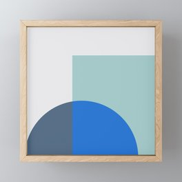 Mélange No. 1 Modern Geometric Framed Mini Art Print