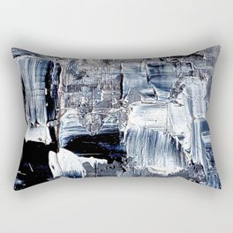 50 Shades... - black & white abstract painting Rectangular Pillow