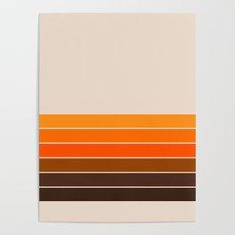 Golden Spring Stripes Poster