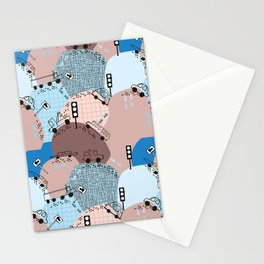 Four wheels blue #homedecor Stationery Cards
