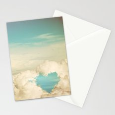 cloud heart Stationery Cards