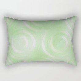 Green Swirlies Rectangular Pillow