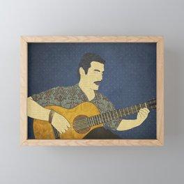 Classical guitar player Framed Mini Art Print