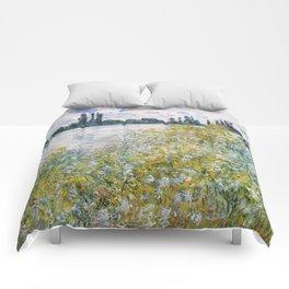 """Claude Monet """"Île aux Fleurs near Vétheuil"""" Comforters"""