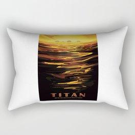 Titan - NASA Space Travel Poster Rectangular Pillow