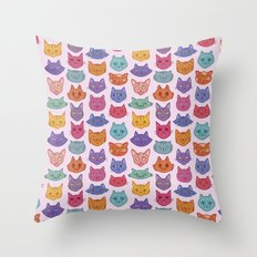 Caaaats cats catssss Throw Pillow