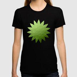 Greenery ombre gradient geometric mesh T-shirt