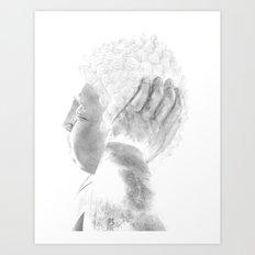 ZEN PLACES (right side) Art Print