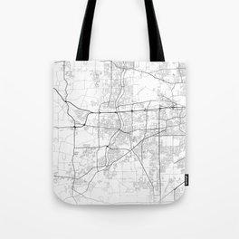 Minimal City Maps - Map of Aurora, Illinois, United States Tote Bag