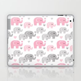 Pink Gray Elephant Baby Girl Nursery Laptop & iPad Skin
