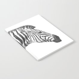 Black and White Zebra Profile Notebook