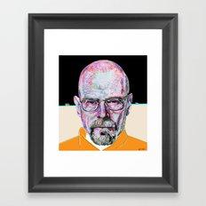 Walter White Breaking Bad (Beige) Framed Art Print