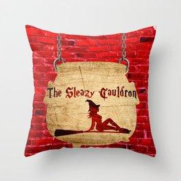 The Sleazy Cauldron Throw Pillow