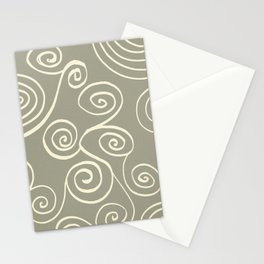 Spiral mural green Stationery Cards