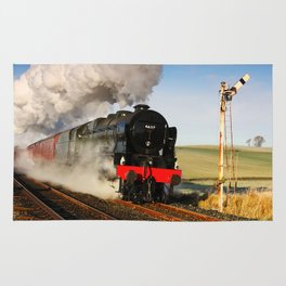 46115 Scots Guardsman Steaming Through Hellifield Rug