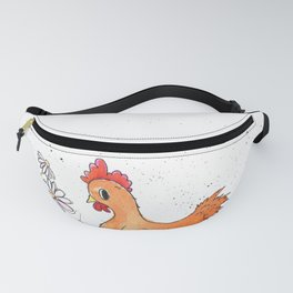orange hen & chicks Fanny Pack