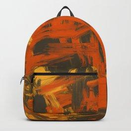 Orange & Olive Abstract Backpack