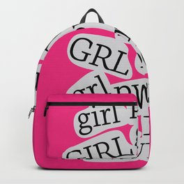 GIRL POWER - GRL PWR 12 // Hot Pink Backpack