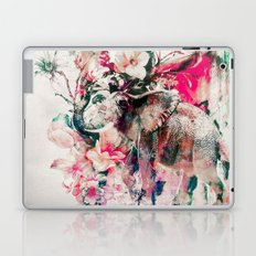 Watercolor Elephant and Flowers Laptop & iPad Skin