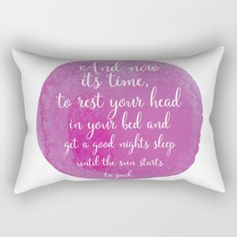 And Nows its time... Pink Nursery Print Rectangular Pillow