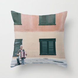 Busker Throw Pillow