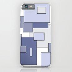 Squares - blue. Slim Case iPhone 6s
