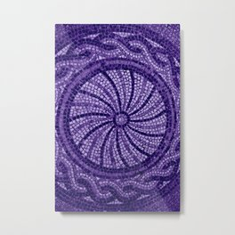 Ultra Violet Stone Tiles 18-3838 Metal Print
