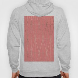 Modern geometric triangles faux rose gold coral pattern Hoody