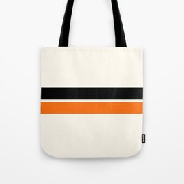 2 Stripes Black Orange Tote Bag