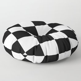 Large Checkered - White and Black Floor Pillow