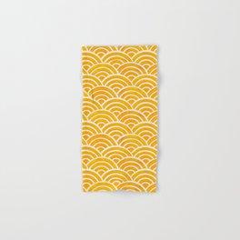 Japanese Seigaiha Wave – Marigold Palette Hand & Bath Towel