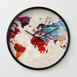 World Map 60 Wall Clock