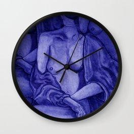 Lady Unknown Blue Wall Clock