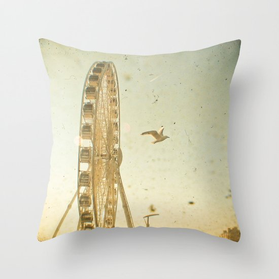 Bird's Eye View Throw Pillow