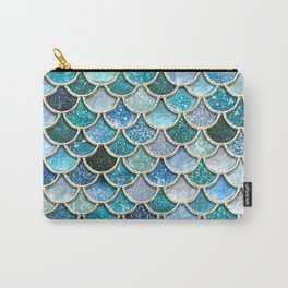 Multicolor Aqua Mermaid Scales - Beautiful Abstract Glitter Pattern Carry-All Pouch
